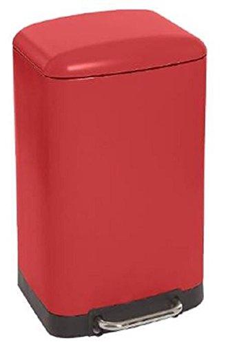 PEGANE Poubelle rectangulaire à pédale Coloris Bordeaux - 30 litres
