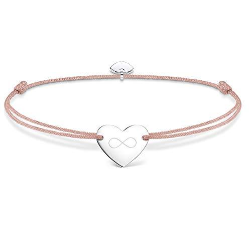 Thomas Sabo Damen Armband Little Secret Infinity Unendlichkeit Herz 925 Sterling Silber LS004-173-19-L20v