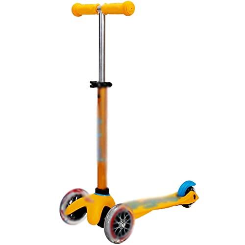 Patinete Fun Scooter Scooter De Altura Regulable, Patinete Al Aire Libre del Muchacho, Parque De Atracciones Pro Scooter (Color : Yellow, Size : 57 * 37 * 45-68cm)