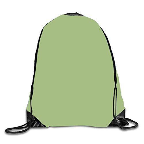 Lawenp Mochila con cordón de Fondo Verde Mochila Impermeable Gymsack Mochila para Hombres y Mujeres