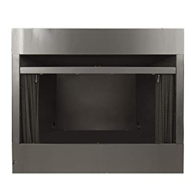 Pleasant Hearth 42 in. Radiant Zero Clearance Universal Vent Free firebox, Black - PHZC42F from GHP Group, Inc.