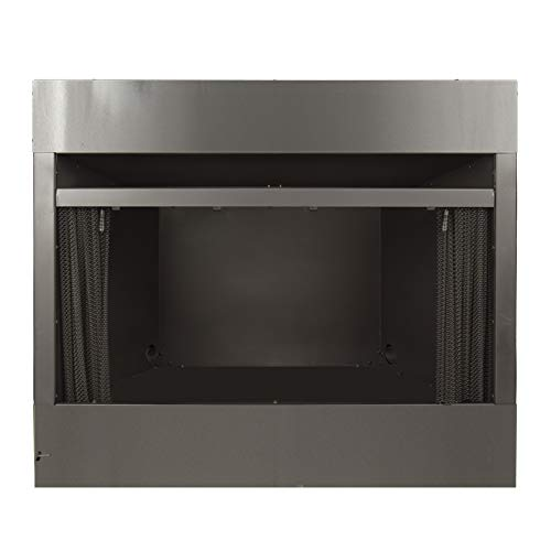 Pleasant Hearth 42 in. Radiant Zero Universal Vent Free firebox, Black