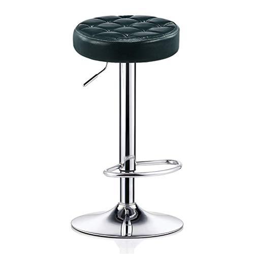WYJW Barhocker Stuhl mit PU-Sitzfußstütze Verstellbarer Gasheber, Höhe 68~80 cm für die Küche Bar Salon Spa Clinic Verchromter Tellerfuß max. Laden Sie 440lb