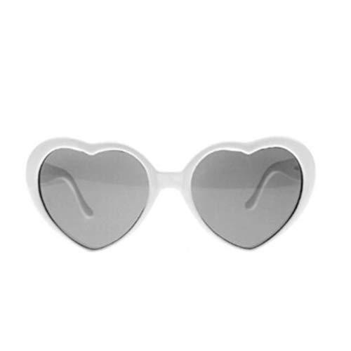 SOIMISS Divertidas gafas con forma de corazn de melocotn con efecto especial Blanco Talla nica