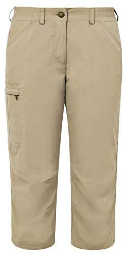 VAUDE Damen Hose Farley Capri Pants IV, Muddy, 44, 03874