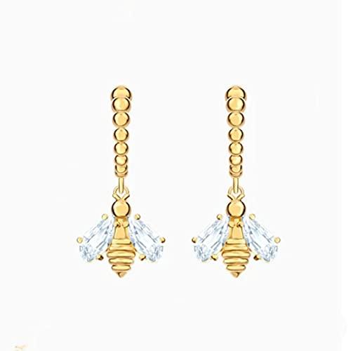 yuge Conjunto de joyería de señoras colección de joyas de mariquita señora pendiente collar y pulsera joyería de moda 5490887(2)
