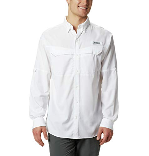 Columbia Men's Low Drag Offshore Long Sleeve Shirt, Large, White