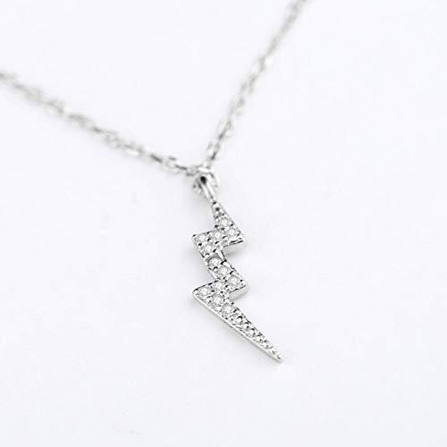 Likass Ms. 925 Sterling Silver Necklace Silver Pendant, La Mejor Opción para El Día De San Valentín, Regalo De Año Nuevo, Recuerdo De Aniversario,Símbolo De Amor-Rayo De Moda