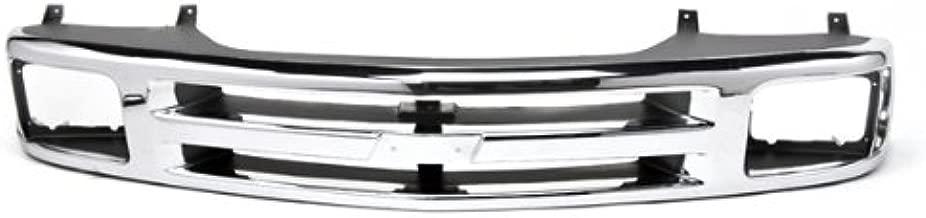 CarPartsDepot, Front Chrome Plastic Surface Grille w/ Single Sealed Beam Headlight, 400-15182 GM1200224 15672329