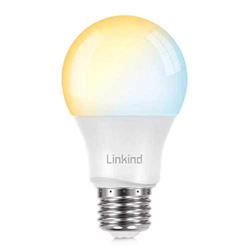 Linkind Smart E27 LED 9W Lampe, via App Farbtemperatur & Helligkeit steuerbar, kompatibel mit Philips Hue and Alexa(Hub erforderlich)
