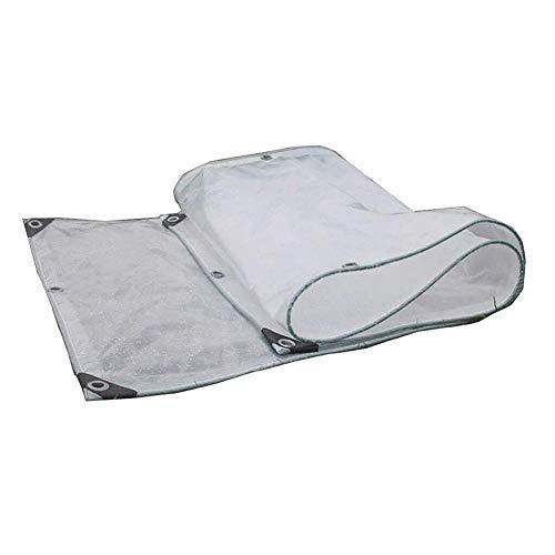 PENGFEI Translucide Bâche De Protection Épaissir Fenêtre Balcon Imperméable Coupe-vent, Plusieurs Tailles (Couleur : Transparent, taille : 4.9x7.85m)