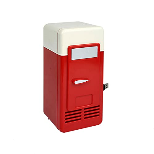 Frigorifero per Auto USB Multifunzione da Viaggio A Casa Frigorifero per Veicoli Scatola A Doppio Uso Frigorifero più Caldo Frigorifero per Auto,Rosso