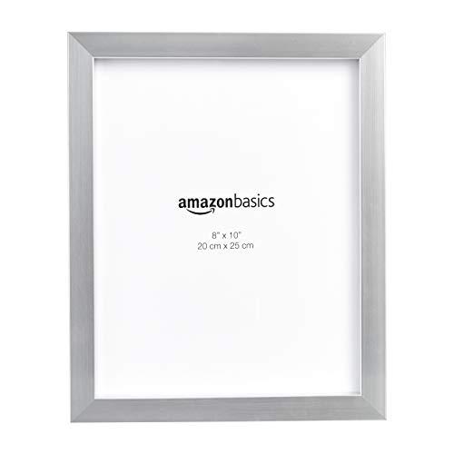 AmazonBasics – Marco para fotos, 20 x 25 cm, Níquel, Pack de 5uds