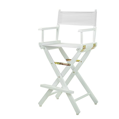 Casual Home Director's Chair ,White Frame/White Canvas,30' - Bar Height