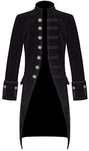 Hommes Vintage Queue de Pie Veste Longue Victorien Gothique Steampunk Manteau