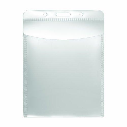 "ADVANTUS PVC-Free Badge Holders, Vertical, 3 x 4"" Insert Size, Pack of 50 Holders (75604)"