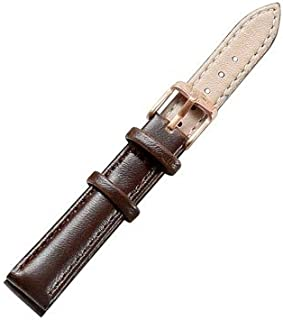 Beautiful Watches, Simple Fashion Watches Band Gold Buckle Leather Watch Strap, Width: 14mm