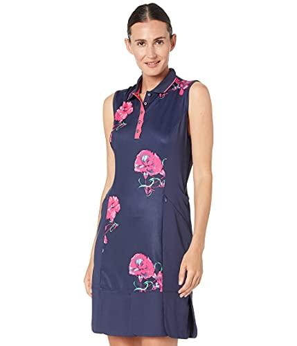 Callaway Open Floral Print Sleeveless Polo Golf Dress Vestido, Peacoat, M para Mujer