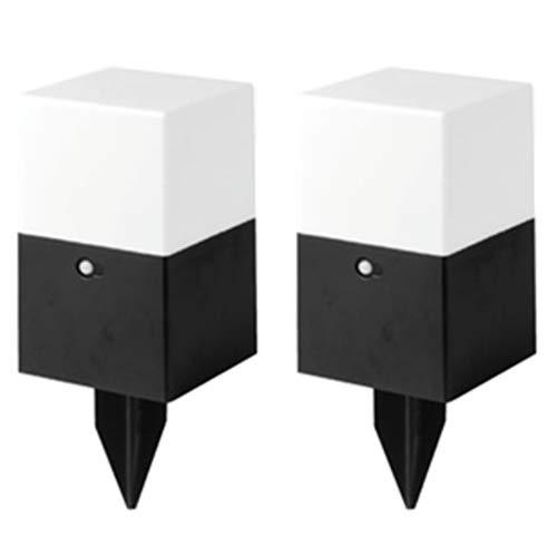 センサー付きLEDライト2個セット 角型 電池式 自動感知 (電球色)