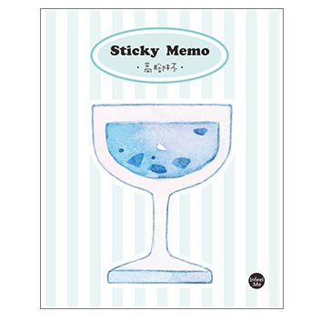 Geschenken UK® Leuke Koffie Ice Cream Drink Melk Vaas Mini Kladblok Opmerkingen Pad Pocket Memo Pad Wijnglas