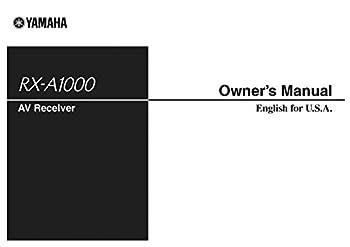Yamaha RX-A1000 Receiver Owners Instruction Manual Reprint [Plastic Comb]