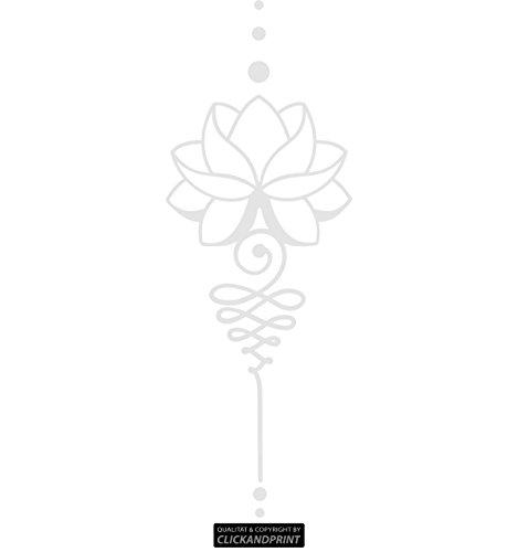 CLICKANDPRINT Aufkleber » Lotus Dekoration, 30x10,8cm, Chrom Spiegelglanzfolie • Dekoaufkleber / Autoaufkleber / Sticker / Decal / Vinyl