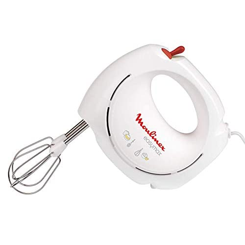 Moulinex ABM11A Easymax Sbattitore A 2 Velocità Con 2 Set di Fruste, Montatura A Neve Degli Albumi