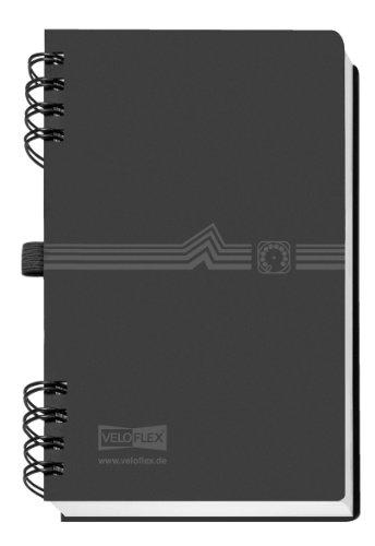Veloflex 5106180 - Libreta de direcciones con espiral, A6, color negro