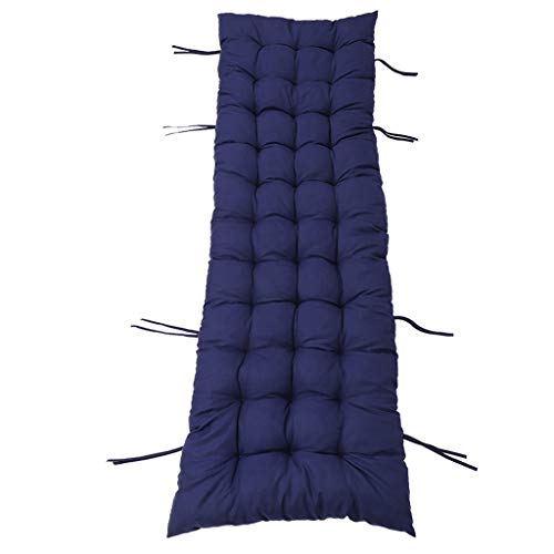 Patio Chaise Lounger Cushion Pads Replacement - Rocking Chair Sofa Cushion Seat Mattress Covers - Thick Padded Recliner Relaxer Chair Sofa Cushion (Blue)