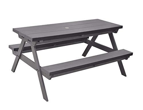 人工木 一体型 ベンチ テーブル 1570 aks-35387 JJ PROHOME ガーデンファニチャー テラス アウトドアファニチャー 庭 屋外 腐らない