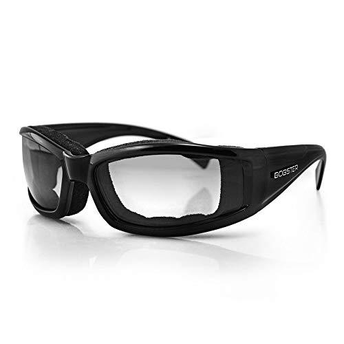 Bobster Invader Rectangular Sunglasses,Black Frame/Photochromic Lens,one size