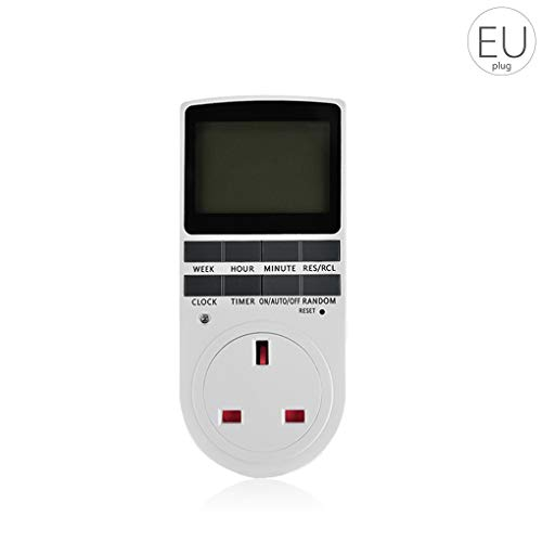 Allayu Interruptor Temporizador programable Digital del de Potencia Plug-in Interruptor zócalo eléctrico Tiempo Interruptor Enchufe de la UE
