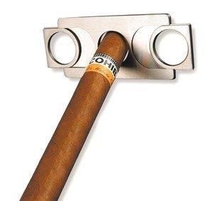 adorini Cutter Zigarrenabschneider im Scheckkartenformat aus Edelstahl mit Doppelklinge in Geschenkbox