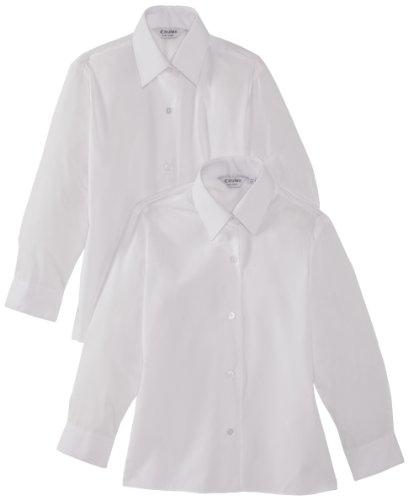 Trutex Mädchen Bluse 003698 2er pack, Weiß, 9-10 Jahre (Herstellergröße: 28