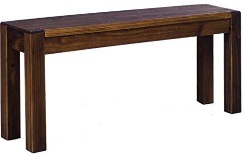 Brasilmöbel Sitzbank 80 cm Rio Kanto Eiche antik Pinie Massivholz Esszimmerbank Küchenbank Holzbank - Größe und Farbe wählbar