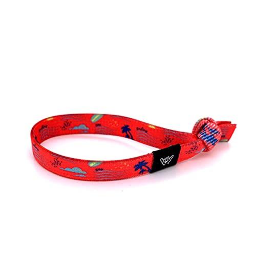 Hang Loose Bands-Comfy Beach Bracelets are Boho Chic-Knot Band Bracelet for Women, Menand Teens. (Sun Surf & Sea, Medium)