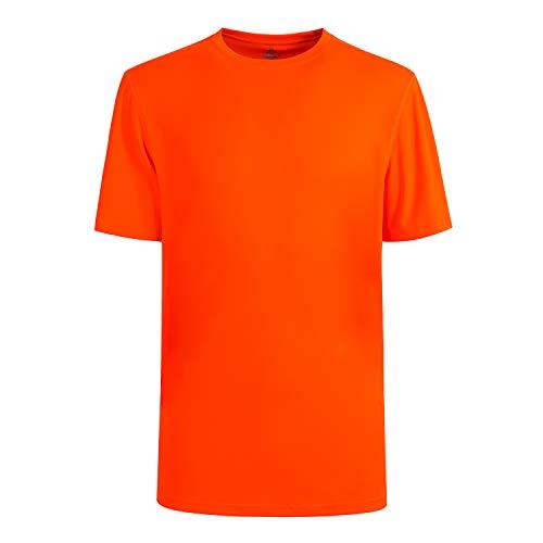 Latest Oversized Quick Dry Sport Running Shirt Fitness Workout T Shirts Design for Men Plus Size HI VIZ Orange-2XL