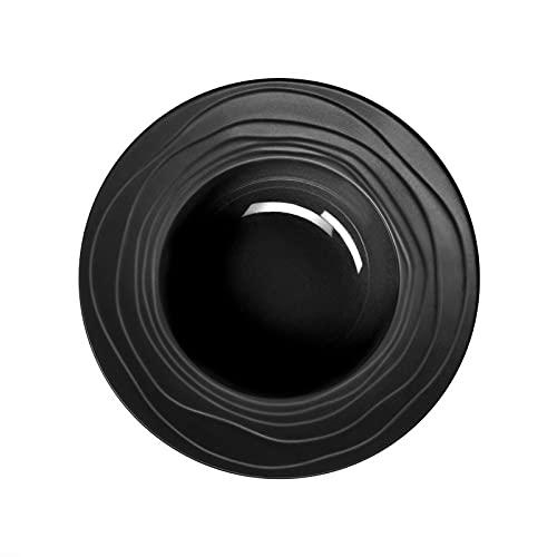 Médard de Noblat Escale Noir - Coffret 6 assiettes creuses à aile