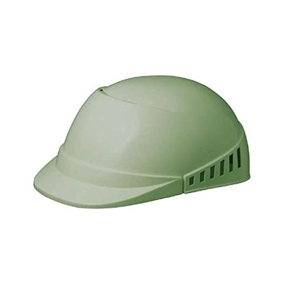 インフラ無効胴体KW57226 軽作業帽 通気孔付 SCL-100A グリーン