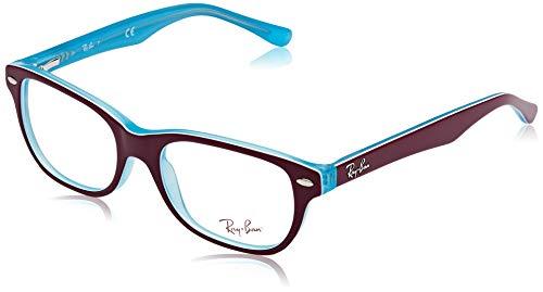 Ray-Ban Unisex-Erwachsene 0RY1555 Brillengestelle, Blau (Blue Trasp On Top Fuxia), 48