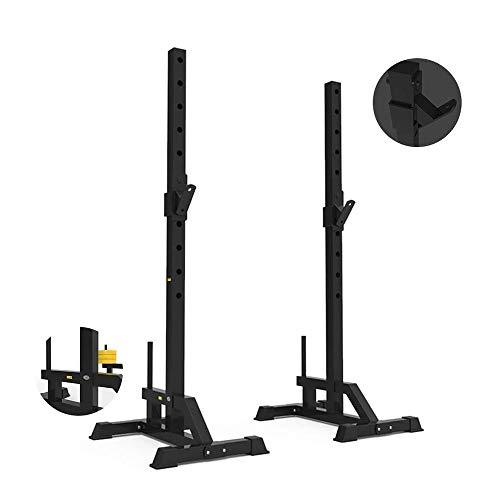 YFFSS Pullup Fitness Réglable Bancs Squat Squat Rack Professionnels Supports réglables Barbell Porte de Split Poids Support Home Fitness (Color : Black, Size : 69 * 50 * 168cm)