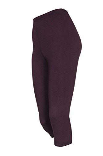 DeDavide - Radsport-3/4-Hosen für Mädchen in Dunkellila, Größe 122