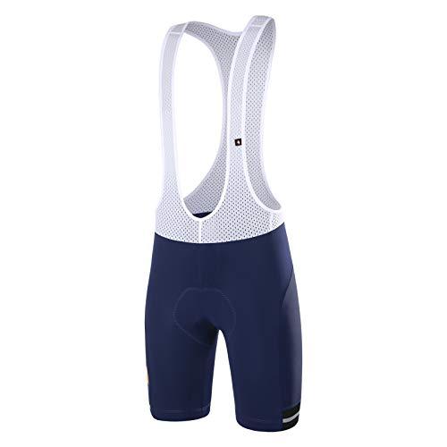 Santic Culote Bicicleta Hombre Culotte Ciclismo Hombre Culote Pantalones Cortos Ciclismo Hombre con Bolsillos Azul Marino XL