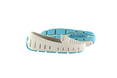 Floafers Women's Driver Slip On Water Shoes Size US 7 M Stone/Aqua