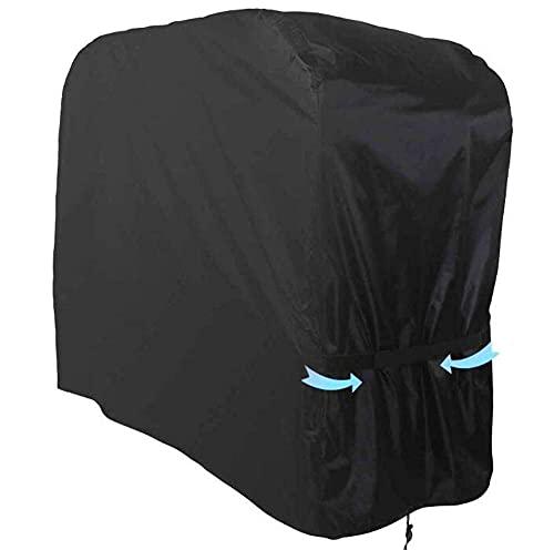 HFTYCC Barbacoa cubierta parrillas estufas barbacoa 420d Oxford tela impermeable cubierta resistente a la decoloración cubierta de la parrilla al aire libre negro (105*49*102cm)