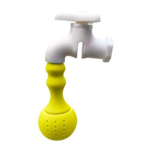 Whiie891203 Teekanne, Wasserhahn Wasserhahn Design Silikon Teekanne Blattsieb Filter Diffusor Trinkwerkzeug Gelb