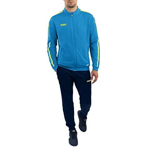 JAKO Kinder Trainingsanzug Polyester Striker 2.0, blau/neongelb, 140, M9119