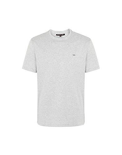 Michael Kors Camiseta con logotipo elegante en gris jaspeado