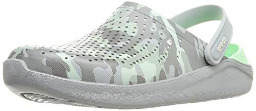 Crocs Unisex-Erwachsene Literide Printed Camo Clog Flip Flops Freizeit-und Sportbekleidung Adult, Multicolor (Neo Mint/Hellgrau), 36 EU