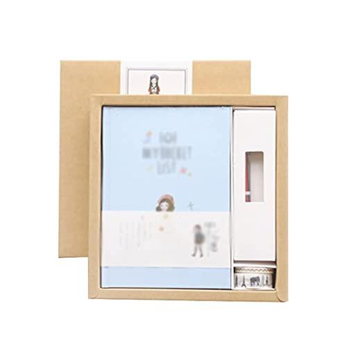 Guomipai Diario de escritura en caja de regalo, libro creativo de moda, bloc de notas, apertura de estudiante, regalo de tres estilos disponibles (color: B)